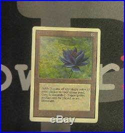 1 Black Lotus Unlimited MtG Magic Artifact Rare old school 93/94 #7979