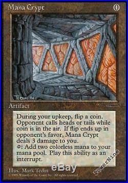 1 PROMO Mana Crypt Artifact Media Inserts Mtg Magic Rare 1x x1