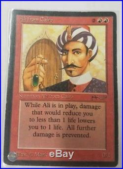 1 X Ali From Cairo Arabian Nights Rare Mp Mtg Magic The Gathering