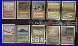 10 Dual Land Set NM- Revised MtG Magic Land Rare 4x Magic the Gathering EDH 4321