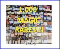1000 Magic the Gathering MTG Rares Collection ALL RARE Lot Rares Only! NM to LP
