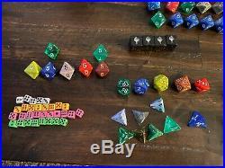 173 Dice Vintage D&D Dungeons Dragons MTG RPG Lot D20 D12 D10 D8 D6 D4 Rare