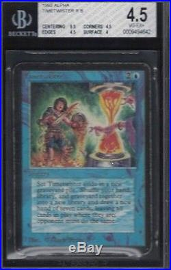 1993 Alpha Time Twister Rare Magic The Gathering Card Bgs 4.5 Vg/ex+