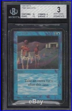 1993 Beta Time Walk Rare Magic The Gathering Card Bgs 3 Vg