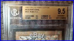 1993 MTG International Collector's Edition Mox Ruby Graded BGS 9.5 Gem Mint