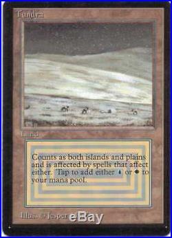 1x BETA Tundra Rare Dual Land Magic MTG x1