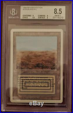 1x Magic the Gathering Scrubland 1994 Revised Ed. Graded-Near Mint+