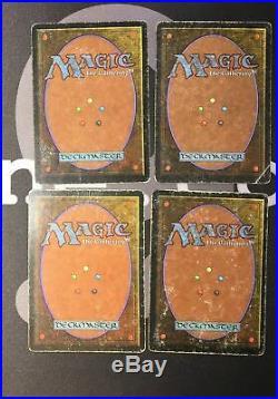 4 Badlands (#1797) Revised Land MtG Magic 93/94 Old School Rare 4x x4