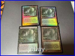 4 Misty Rainforest 2 foil (1 foil Retro Frame) (1 Extended Art)