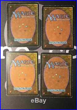 4 Scrubland (#0626) Revised Land MtG Magic 93/94 Old School Rare 4x x4