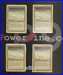 4 Tundra Revised MtG Magic Land Rare 4x x4 Magic the Gathering (#2731)