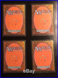 4 X MTG Magic The Gathering Revised Badlands EX-NM Rare Duallands 4X Dual Land