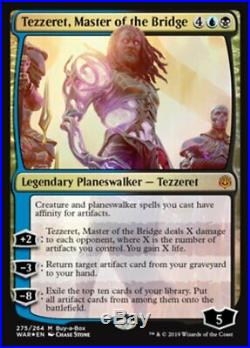 4x FOIL Tezzeret, Master of the Bridge Playset War of the Spark M/NM MTG
