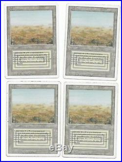 4x SCRUBLAND x4 Revised Dual Land Played MP MTG Magic the Gathering
