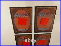 4x Scrubland playset Dual land MTG Revised lightly played