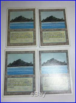 4x Tropical Island NM x4 Revised Land Rare Magic The Gathering MTG Hard 8s Magic