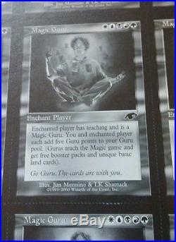 9 MTG Guru cards, UNCUT page of 9 Magic Guru-super rare Magic the Gathering find