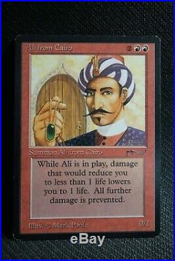 Ali from Cairo Arabian Nights RARE Red Reserved List Old School 93/94 Mtg C179