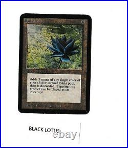 Alpha Black Lotus Excellent- MTG Alpha Christopher Rush Power 9