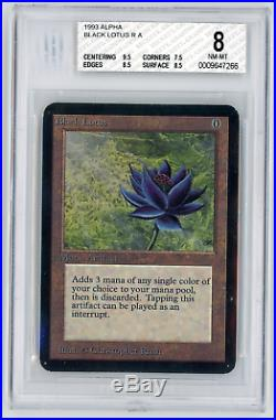 BGS 8 Alpha Black Lotus Magic MTG Graded Holy Grail