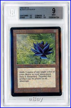 BGS 9 Beta Black Lotus Magic MTG Graded