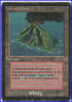 Beta MTG Volcanic Island Magic Rare