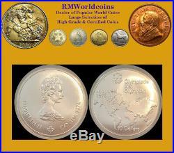 Canada 1974 10 Dollars Olympic Map, Error Mule, NGC 65 PQ, Rare Mtg 320 coins