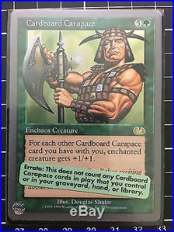 Cardboard Carapace MINT Rare Enchant Creature Unglued MTG Magic the Gathering