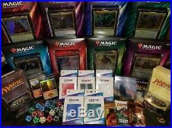 Commander 2018 2019 MTG Bundle EDH Magic Lot Deck Sleeves Rares Packs + More