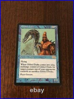 Gilded Drake MTG Urza's Saga Near Mint Rare Magic The Gathering