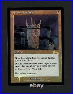 Grim Monolith FOIL, Near Mint, NM, Urza's Legacy, Reserved List Item MTG, Magic