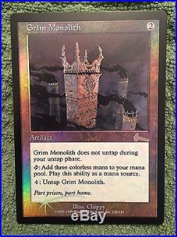 Grim Monolith, Magic The Gathering Urza's Legacy, Foil Rare Beautiful NM/Mint