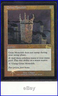 Grim Monolith foil Urza's Legacy, EX+. MTG