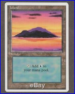 Island (Ver A) Summer Revised Magic Edgar M/NM+ HQ Scans & Pics, Very Rare MTG
