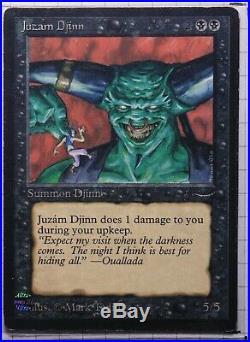 Juzam Djinn Arabian Nights Magic The Gathering Individual Card very light play