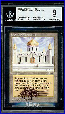 Library of Alexandria Arabian Nights, BGS 9 MINT. MTG (pop 1 of 186)