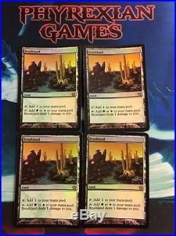 MTG 4x FOIL BRUSHLAND sp x4 9th edition ninth magic the gathering rare card