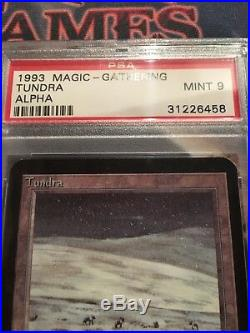 MTG ALPHA TUNDRA (PSA 9) mint vintage magic dual land rare graded card