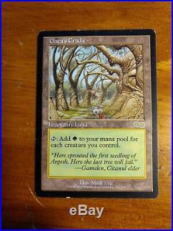 MTG Card Gaea's Cradle -Rare Urza's Saga Light play to medium play condition
