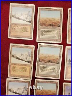 MTG Dual Land Lot Magic the Gathering Badlands Plateau Scrubland Taiga x4