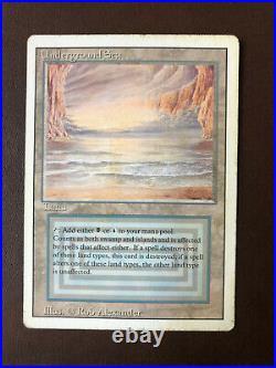 MTG Dual Land Underground Sea HP Revised Edition-Magic the Gathering -c