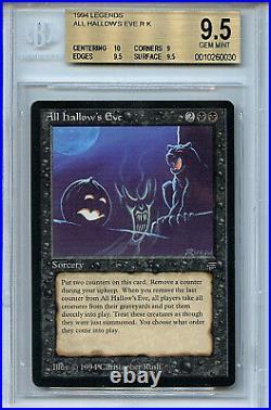 MTG Legends All Hallows Eve BGS 9.5 Gem Mint card Magic with 10 Centering 0030
