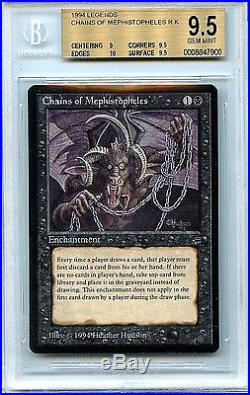 MTG Legends Chains of Mephistopheles BGS 9.5 Gem Mint Magic the Gathering Card