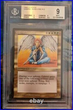 MTG Legends Gabriel Angelfire BGS 9 Graded Magic the Gathering 8698 Quad + -RNR