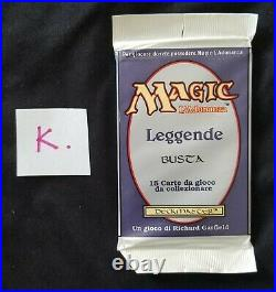 MTG Legends Sealed Booster Pack 1994 Italian Magic the Gathering YOU CHOOSE