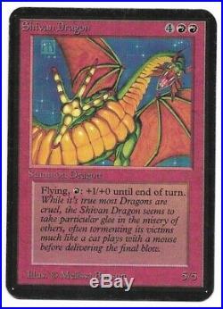 MTG Limited Edition Alpha SHIVAN DRAGON rare