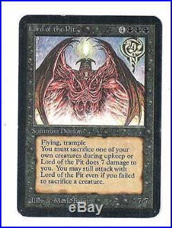 MTG Lord of the Pit ALPHA (ACTUAL SCANS) SP Magic the Gathering Rare