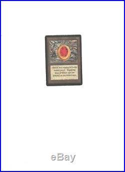 MTG MAGIC THE GATHERING CARD Beta Mox Ruby Artifact Rare Power 9 Good Condition
