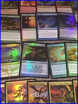 MTG Magic ALL FOIL EDH DRAGON DECK Over 50 RARES and MYTHICS FOIL EDH