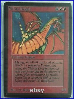 MTG Magic Limited Edition Beta 1993 Shivan Dragon RARE Played Original Excellent